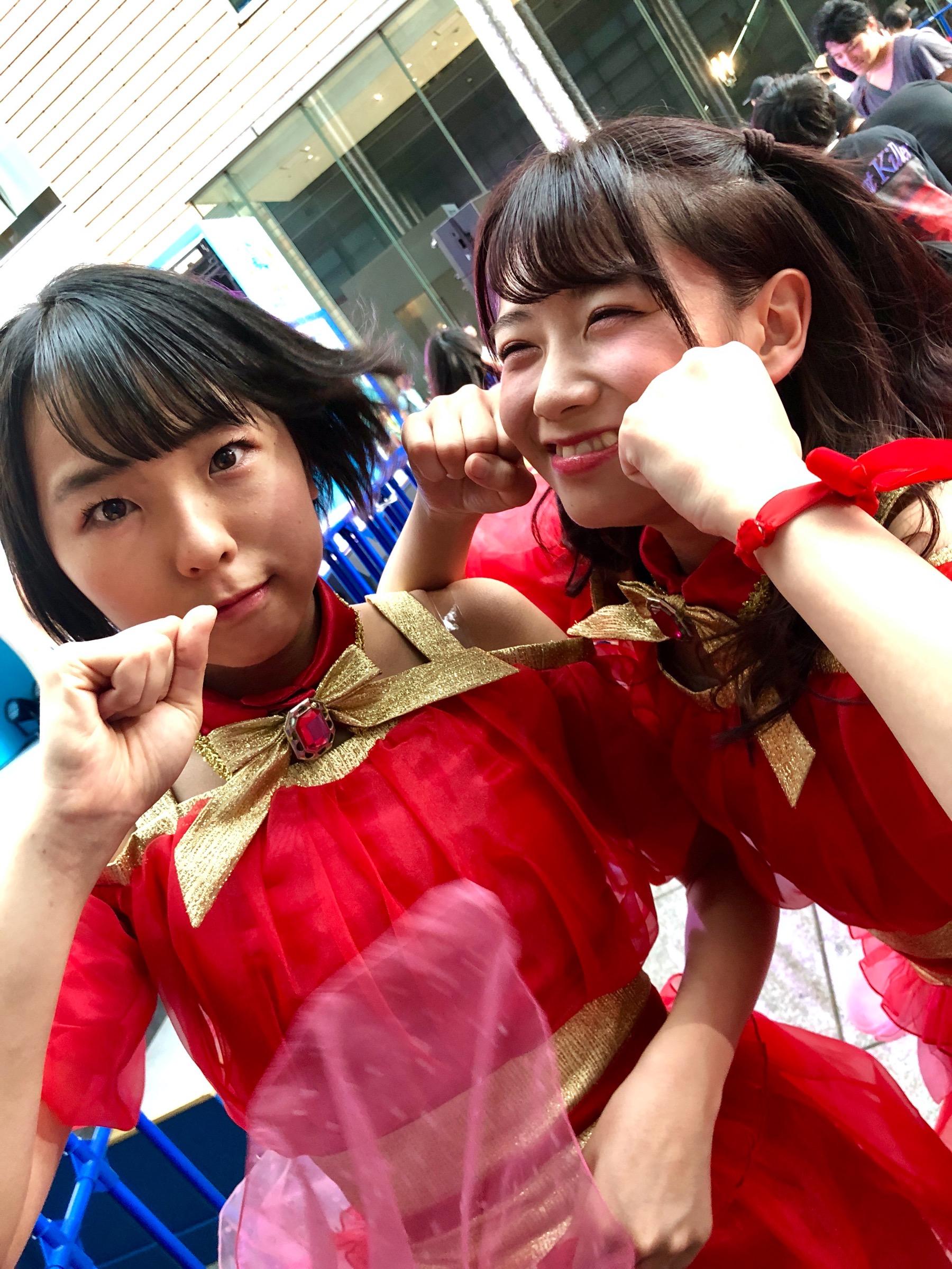 Aya Kajishima and Chinatsu Takahagi from Up Up Girls(2)